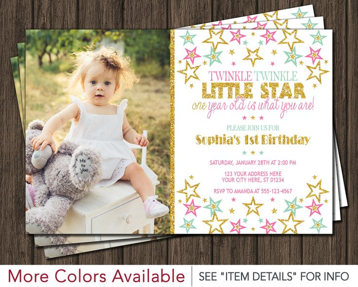 62 best Twinkle Twinkle Little Star Birthday Party images on – Costco Birthday Invitations