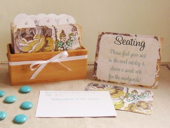 Cut the Cake Designs — Vintage Floral Escort Card and Guest Book Box