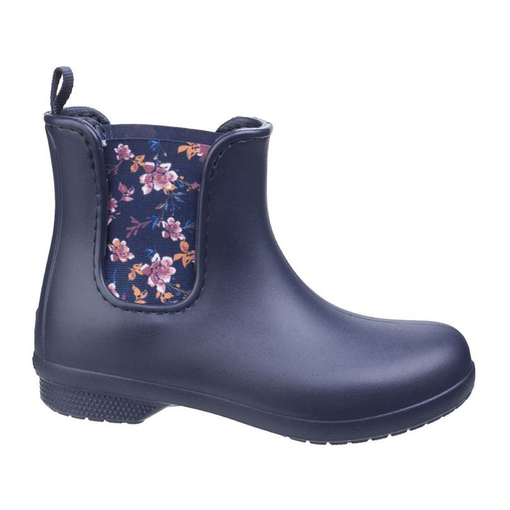 Shine or rain, these trendy and comfortable Chelsea styled boots from  Crocs™ are easy to pull on when you need to walk the dog and pretty enough  ...