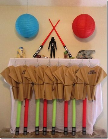 Star Wars Party - Pool Noodle Light Sabers and Jedi Robes