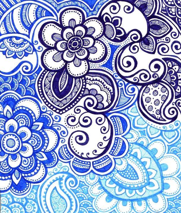 Happy Blues by ~yael360 on deviantART | Zentangle Doodle ...
