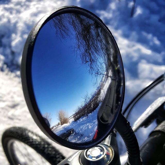 Biking reflections in the snow...