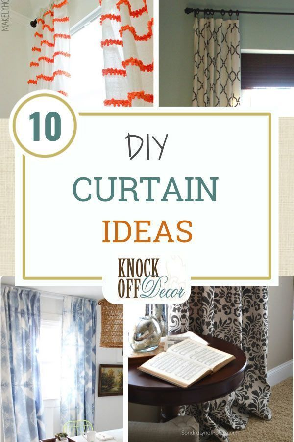 10 Diy Curtain Projects Knock Off Style In 2020 Diy Curtains
