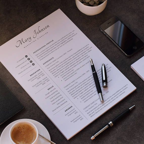 Professional Resume Template / Modern CV Design Easy Instant