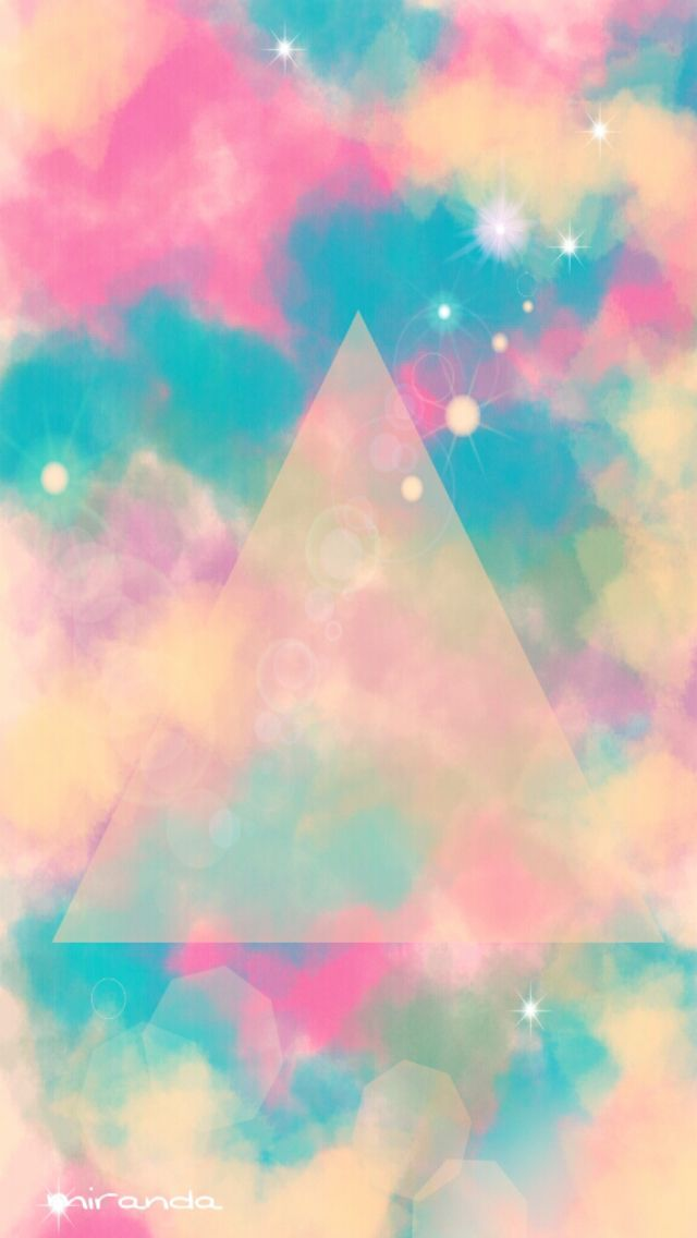 Pastel triangle wallpaper via Cocopapa  Fonts, Typography, Designs  Pinterest  Iphone 5