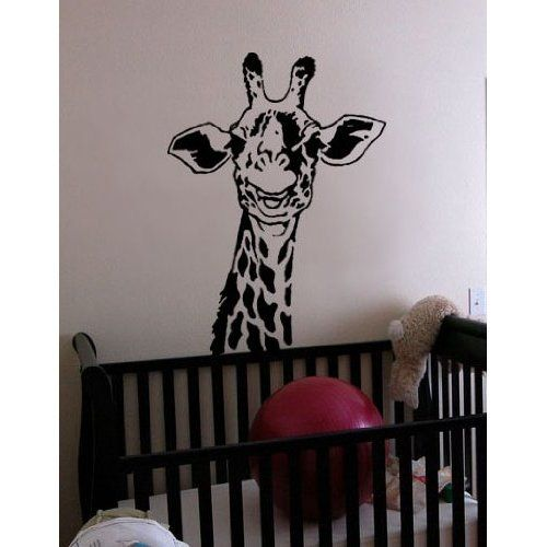 Giraffe decals for kids room nursery giraffe stickers for walls