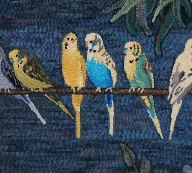 Parrots By Gene Shepherd Wool And Hooking 1 Pinterest