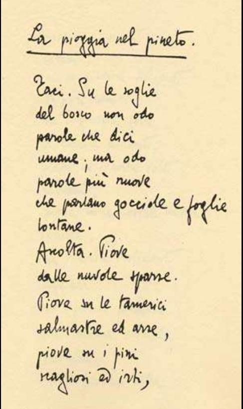 #lapioggianelpineto #dannunzio #poesia #decadentismo #alcyone