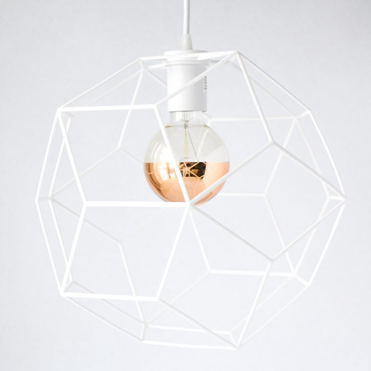 Enclosed Diamond Pendant Light designed by modern lighting studio DeVignCo.