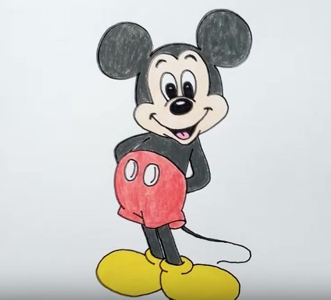 mickey mouse draw cartoon drawings drawing easy characters disney step sketches mickeymouse cartoons zeichnen zeichnungen anleitung sketch mike character simple
