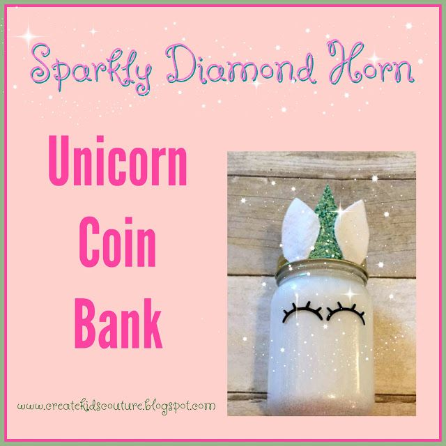 Create Kids Couture: Unicorn Coin Bank