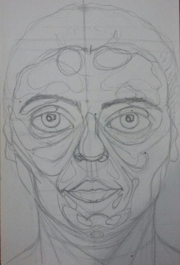 self-portrait sketch pencil