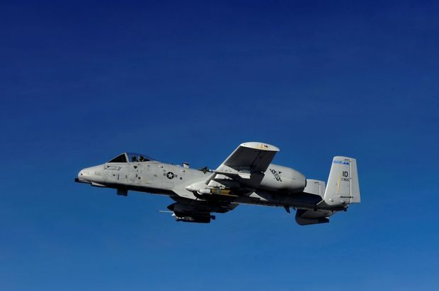 The Fairchild A-10 Thunderbolt  II is a U.S. Air Force plane designed to provide close air support for ground troops. It is also among the planes being used for the Mountain Roundup.The roundup is a joint training exercise &-18 Oct 2013 that includes units from the U.S. Air Force, Navy, Marine Corps and Army, along with Royal Canadian Forces, the German Air Force and Singapore's 428th Fighter Squadron, which is stationed at Mountain Home.