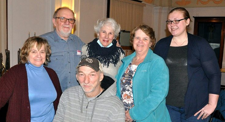"PHOTO PROVIDED  Cast members of Heritage Park's second ""Murder Mystery,"" to be held Saturday evening at the Elks in Renovo, are from left, Barb Mastriana, Bill Blickensderfer, Bob Shank, director Gail Lutz, Martha Sykes and Bree Layton."
