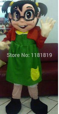 La chilindrina El chavo del 8 traje de la mascota de encargo de lujo kits del traje del anime cosplay mascotte tema de disfraces traje del carnaval