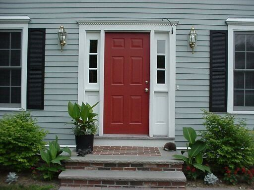 17 best images about shutter color ideas on pinterest - What color door goes with gray house ...