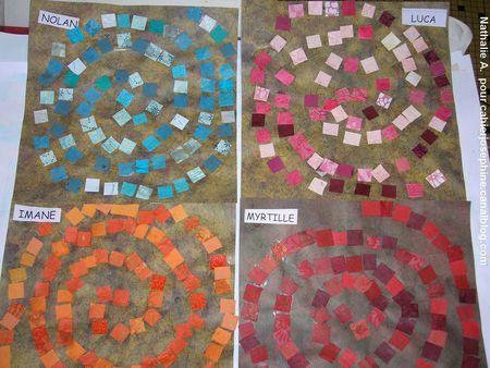 Spirales papier découpé PS