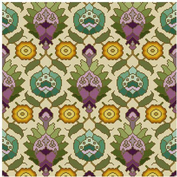 antique wallpaper adaptation Persian motifs Cross by Whoopicat, $4.99