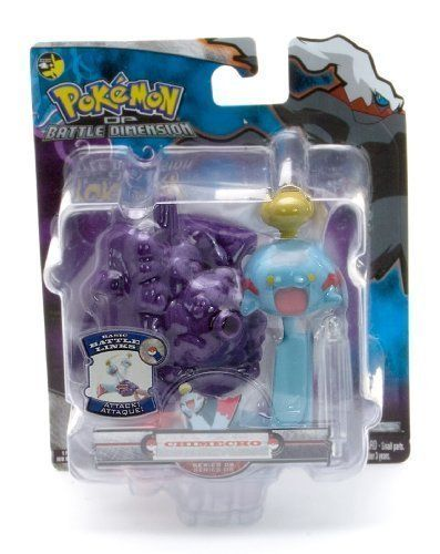 Chimecho - Jakks Pacific Pokemon Diamond and Pearl Battle Dimension Basic Battle Links Figure Series 8 by Jakks. $7.99. Featuring Chimecho from Pokemon Diamond and Pearl. Part of the Jakks Pacific Pokemon Battle Links Figure Series. The Pokemon Battle Links Figure series figure is one of the most popular Pokemon franchise. Featuring many Pokemons from Pokemon Diamond and Pearl, this Pokemon figure line has captured the heart of millions of Pokemon fans.. Save 87% Off!