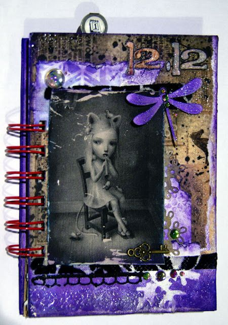 december journal cover with Niccoletta Ceccoli painting