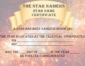 Name a star certificate template kardasklmphotography name a star certificate template the star almanac professional star naming software yadclub Gallery