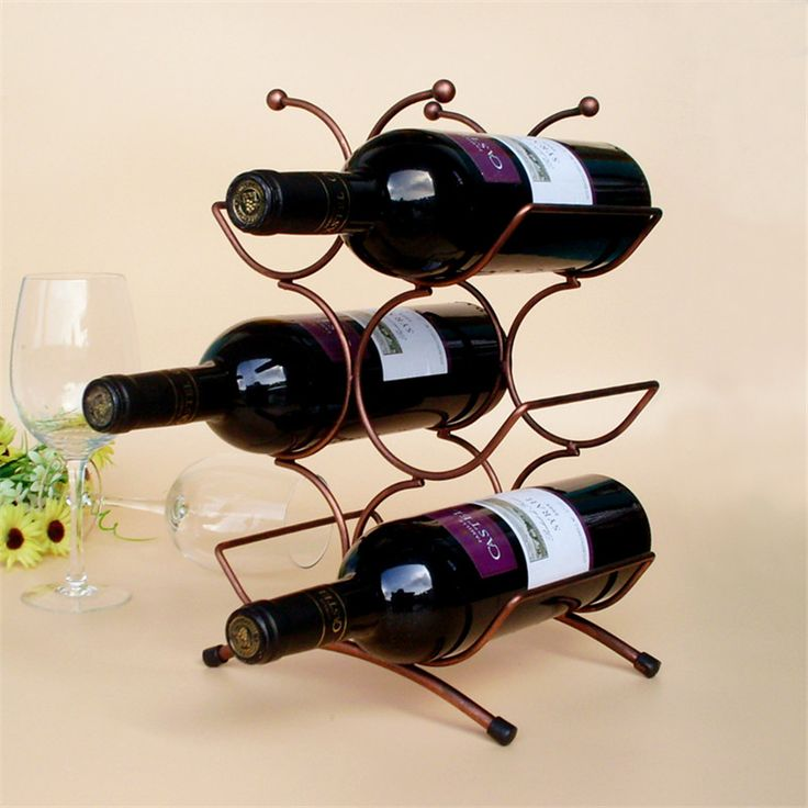 Creative European Style Red Wine Rack  6 Bottles Holder Mount Kitchen Wine Holder Display Red Wind Shelf Brand New House Decor