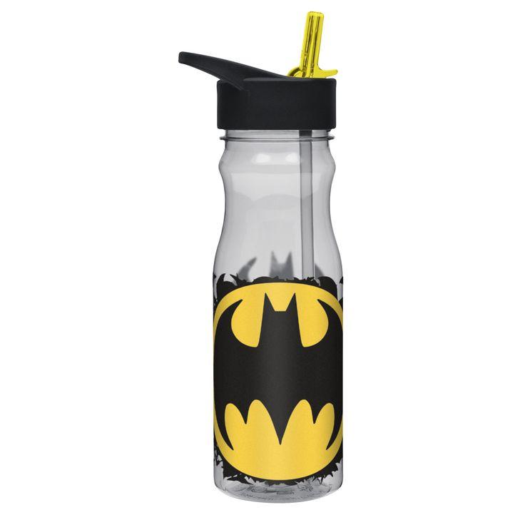 Zak Designs Batman Large Water Bottle with Straw