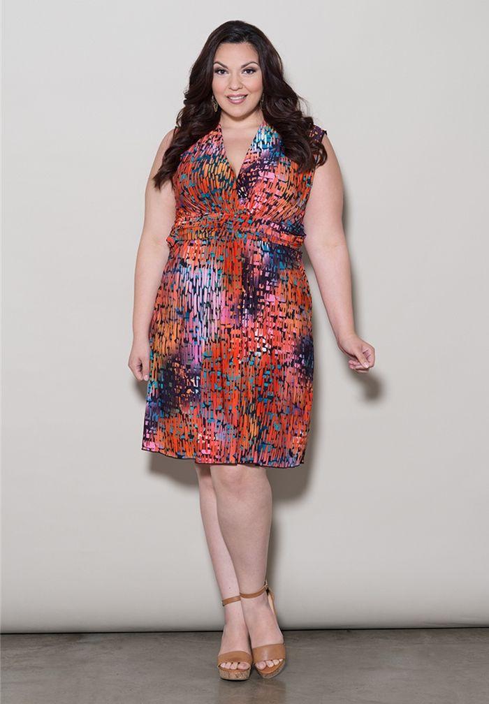 Plus size red tank dress