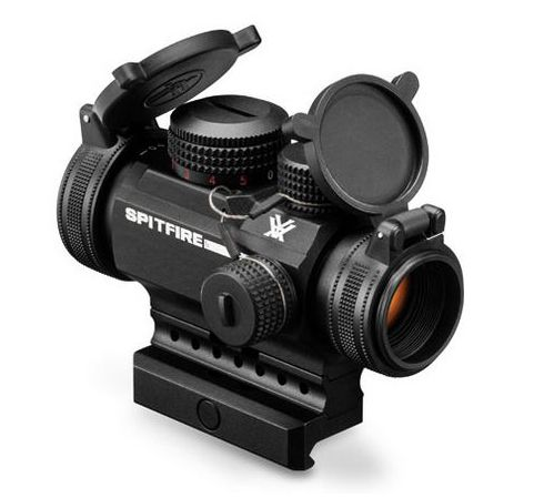 Vortex SPITFIRE 1 x Prism Scope DRT (MOA) Reticle. Designed specifically for the AR platform, the 1x Spitfire combines an impressive array of high-performance features into a rugged, ultra-compact package. When fast target acquisition in close- to medium-range shooting applications is a priority, the Spitfire excels.