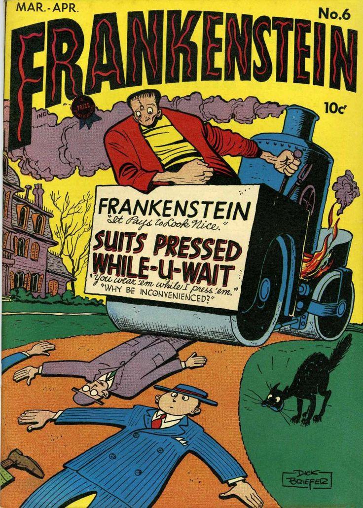 Comic Book Cover For Frankenstein
