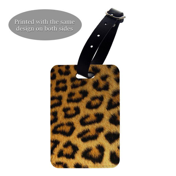 Animal Print Pattern Luggage Suitcase Baggage Tag - Leopard print - G1099