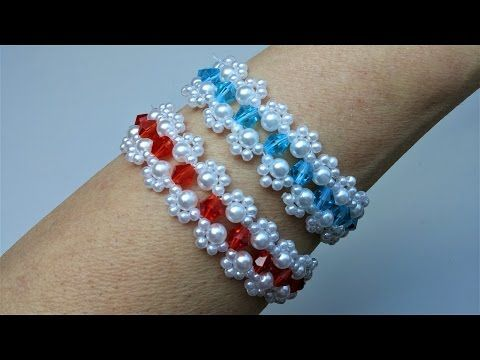 Mother's Day bracelet making . Beginners jewelry pattern - YouTube