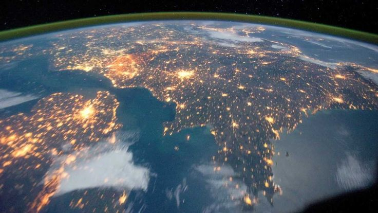 The View from Space - Countries and Coastlines. Incredible view of countries, but from far above.