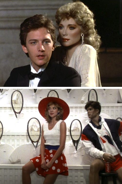 Mannequin, with Andrew McCarthy and Kim Catrall (waaay before SITC). I must have watched this a hundred times as a kid on HBO.