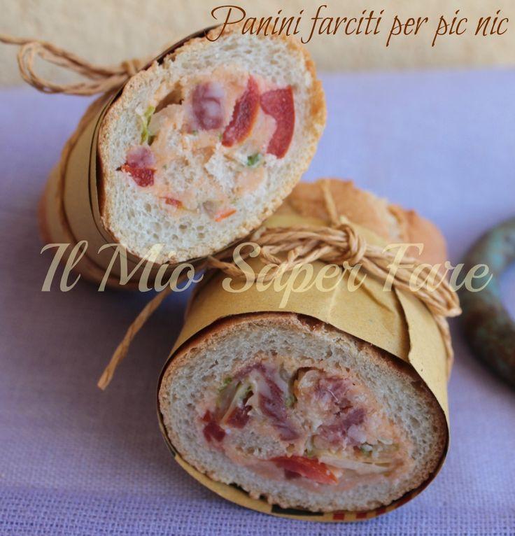 Panini farciti per pic nic | Baguette ripiena: un'idea geniale da sistemare nel cestino da pic nic e da gustare a Pasquetta o in gita. Ottimi per antipasti