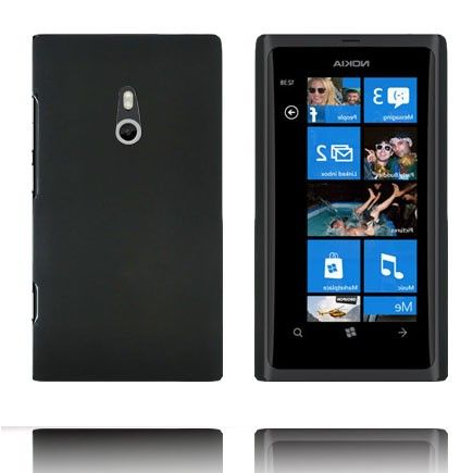 Hard Shell (Sort) Nokia Lumia 800 Deksel