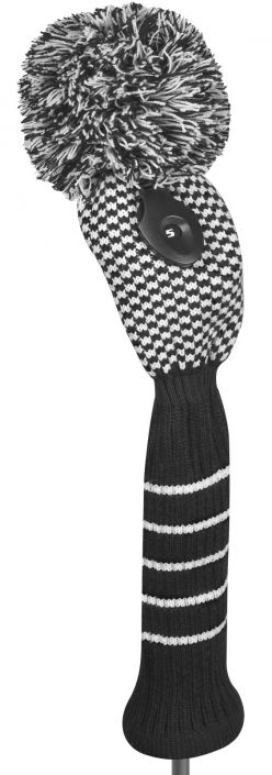 Find the best #golf accessories at #lorisgolfshoppe : Black and White Just4Golf Checked Fairway Style Golf Headcover
