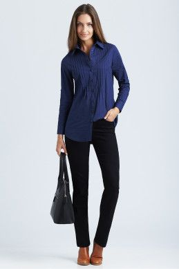 bird keepers The Blue Pintuck Shirt - Perfect style for women on the go - Womens Shirts & Blouses - Birdsnest Fashion Clothing