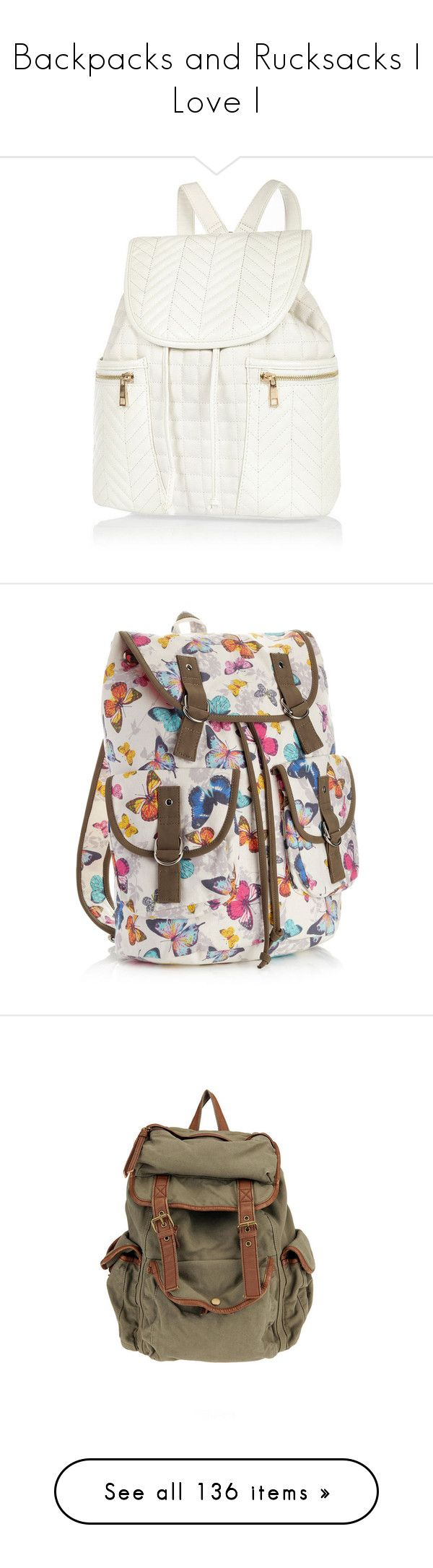 """""""Backpacks and Rucksacks I Love I"""" by nessiecullen2286 ❤ liked on Polyvore featuring bags, backpacks, backpack, sale, drawstring backpack bag, faux leather drawstring backpack, drawstring backpack, strap backpack, river island backpack and accessories"""