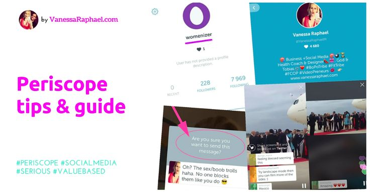 A quick guide to get started on Periscope and to be taken seriously!