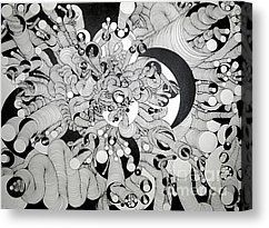 Squiggle Art By Amy Canvas Print by Amy Stielstra