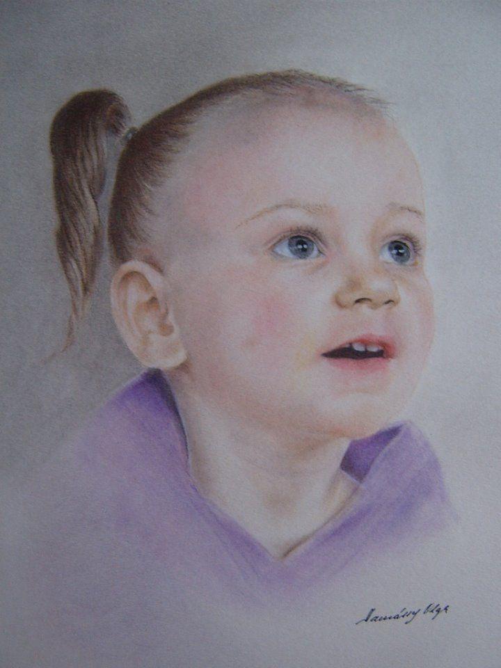 Tamássy Olga pasztell portréja