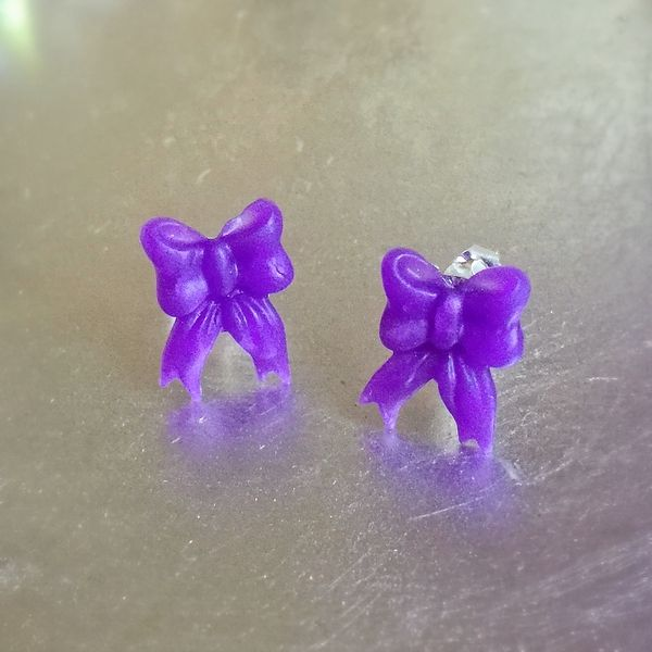 Hand Made Delicate Bow Earrings - #6226   Stall & Craft Collective