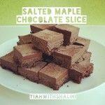 Salted Maple Chocolate Slice - naughty, but looks so good!