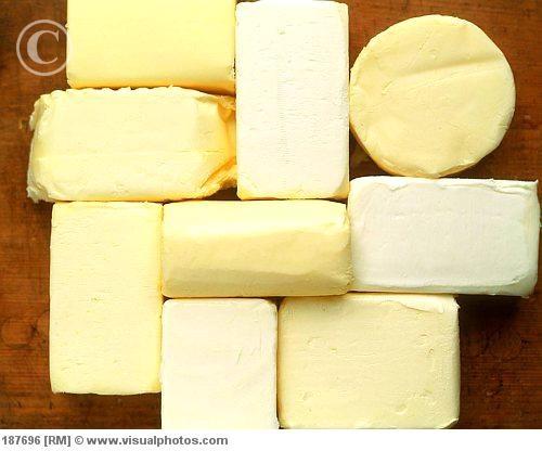 Jenis-jenis mentega, margarin dan lemak lainnya