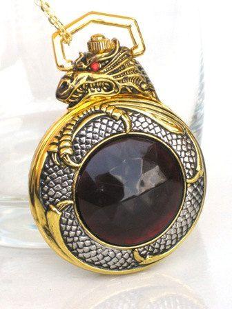 Steampunk  MYTHICAL DRAGON Pocket Watch  by GlazedBlackCherry, $39.99