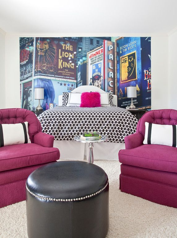 Designer-Bolick Interiors/ Teen suite in a broadway theme...