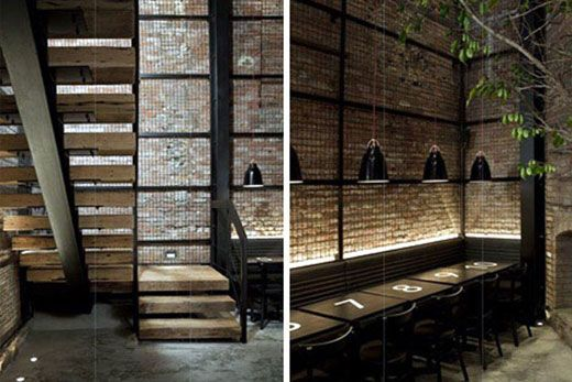 Modern French Bistro interior exposed brick | Restaurants ...