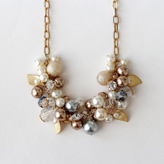 10% OFF Pearl Crystal Rhinestone Metal Flower by YuniDesigns