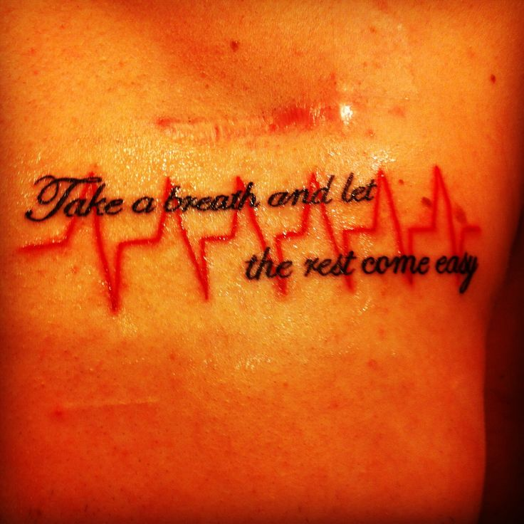 Tattoos On The Heart Quotes: Heart Condition Tattoo. Also An All Time Low Quote / Lyric